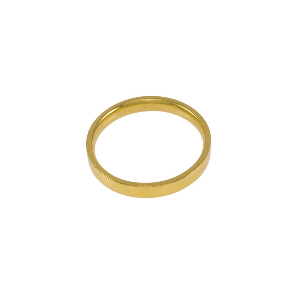 Βέρα λουστρέ σε κίτρινο χρυσό 14ΚΤ.