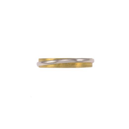 Βέρα  διπλή ,χρυσό και λευκό χρυσό 14ΚΤ .