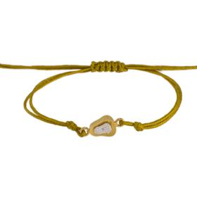 "Bracelet ""GEOMETRIC SHAPE"" cord with elements gold 14kt."