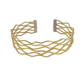 """Βραχιόλι """"WAVES"""" σε κίτρινο χρυσό 14ΚΤ."""