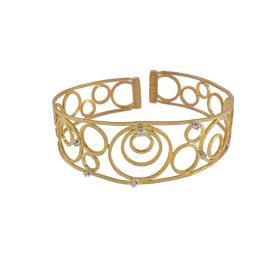 """Βραχιόλι """"CIRCLES"""" σε κίτρινο χρύσο 14ΚΤ με ζιργκόν."""