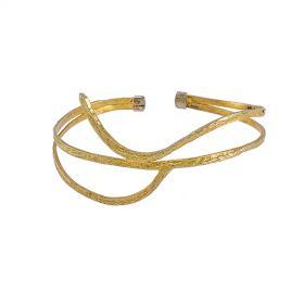 """Βραχιόλι """"LINES"""" σε κίτρινο χρυσό 14 ΚΤ."""