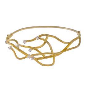 """Βραχιόλι """"CORAL"""" σε κίτρινο χρυσό 14 ΚΤ με ζιργκόν."""