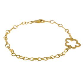 "Bracelet  chain with element ""DAISIES"" gold 14kt"