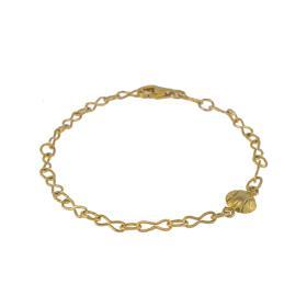 Βραχιόλι αλυσίδα με στοιχείο μπάλα σε κίτρινο χρυσό 14 ΚΤ     BR005419