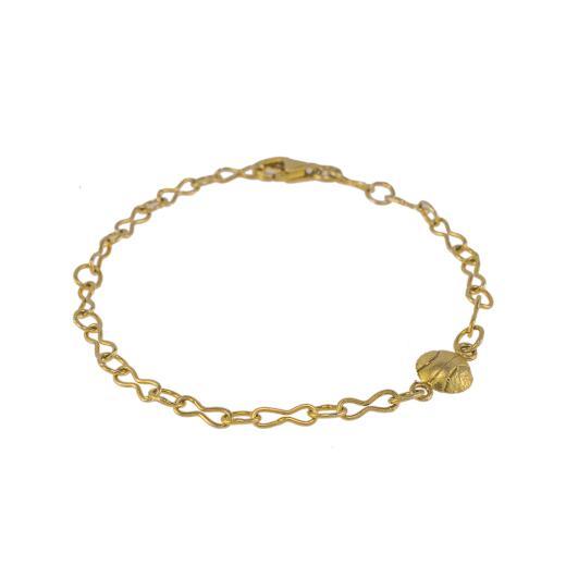Βραχιόλι αλυσίδα με στοιχείο μπάλα σε κίτρινο χρυσό 14 ΚΤ