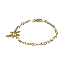 Bracelet  chain with element , flower gold 14kt