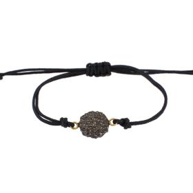 "Bracelet cord with element ""LAVA""  gold 14kt"