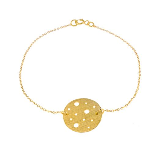 """Bracelet  """"CYCLE""""  in gold plated silver."""