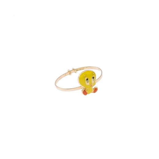 Δακτυλίδι σμάλτο  σε κίτρινο χρυσό 14ΚΤ .
