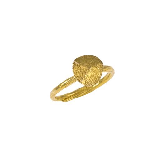 Δακτυλίδι σε κίτρινο ματ χρυσό 14ΚΤ .