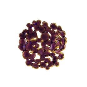 Δακτυλίδι σε κίτρινο χρυσό 14ΚΤ με σμαλτο.