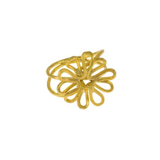 """Δακτυλίδι """"DAISIES""""  σε κίτρινο χρυσό 14ΚΤ"""