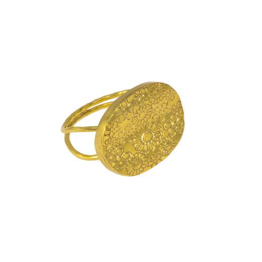 """Δακτυλίδι """"FLOWERS""""  σε κίτρινο χρυσό 14ΚΤ ."""