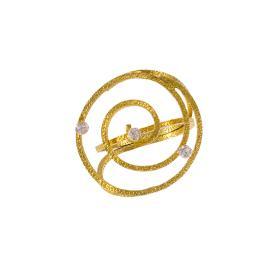 """Δακτυλίδι """"ANCIENT  DISPOSITION"""" σε λευκό χρυσό 14ΚΤ με ζιργκόν."""