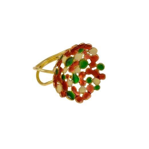 """Δακτυλίδι """"DOTS"""" σε κίτρινο χρυσό 14ΚΤ."""