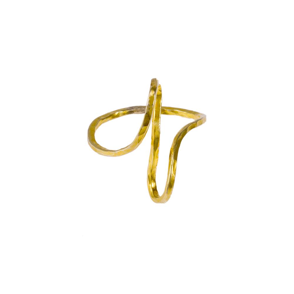 Δακτυλίδι σε κίτρινο χρυσό 14ΚΤ.