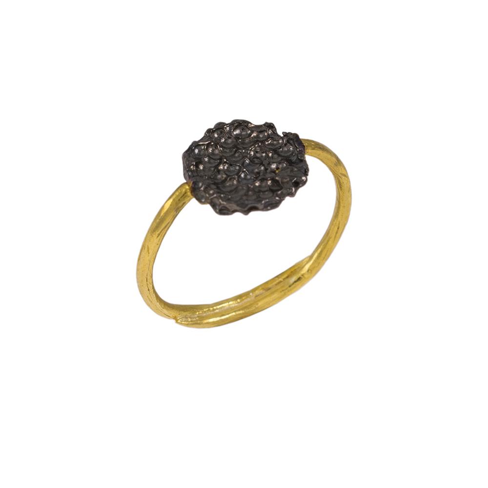 """Δακτυλίδι """"LAVA"""" σε κίτρινο χρυσό 14ΚΤ ."""