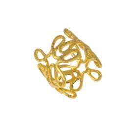 """Δακτυλίδι """"DAISIES""""  σε κίτρινο χρυσό 14ΚΤ ."""