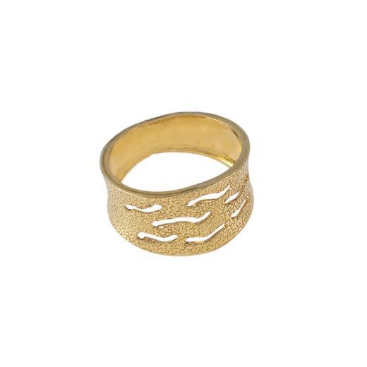 """Δακτυλίδι """"WAVES""""   σε κίτρινο χρυσό 14ΚΤ ."""