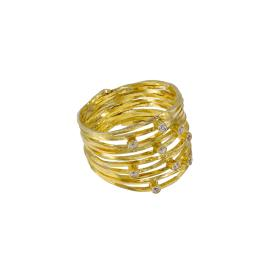 Ring 14kt gold with zirgon.