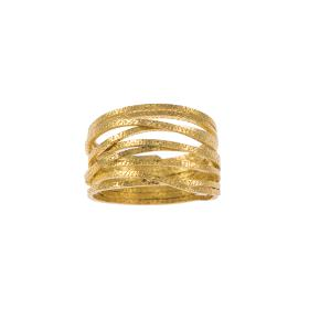"Ring ""Lines"" in yellow  gold 14kt."