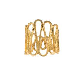 """Δακτυλίδι  """"ANCIENT DISPOSITION""""  σε κίτρινο χρυσό 14ΚΤ ."""