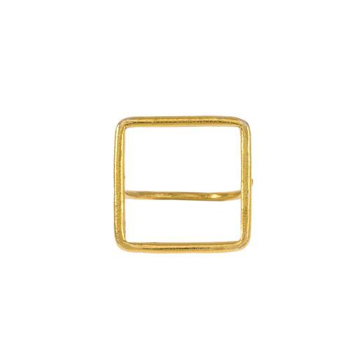"""Δακτυλίδι """"SQUARE"""" σε κίτρινο χρυσό 14ΚΤ ."""
