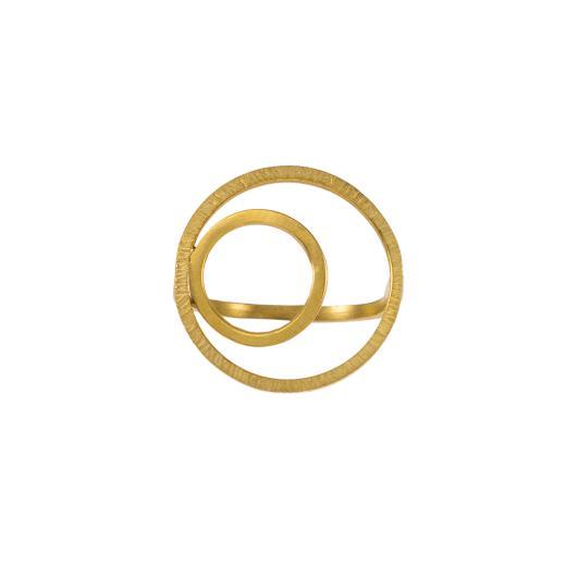"""Δακτυλίδι """"CYCLE"""" σε κίτρινο χρυσό 14ΚΤ ."""
