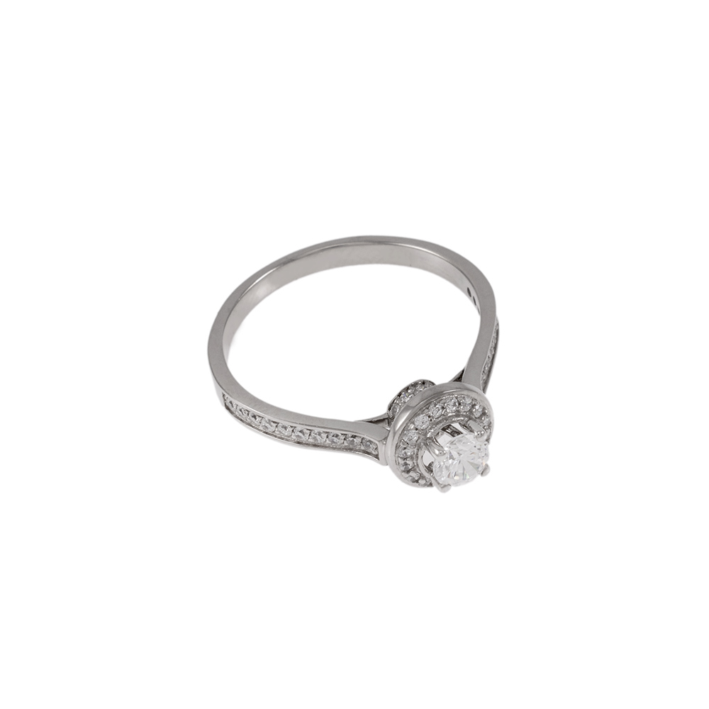 Δακτυλίδι σε λευκό χρυσό 18ΚΤ με ζιργκόν.