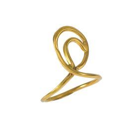 """Δαχτυλίδι """"LINES""""  σε ασήμι επιχρυσωμένο.  DA006065"""