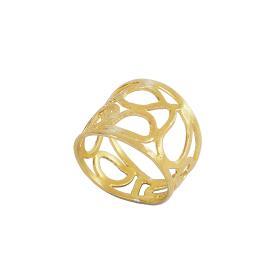 """Δακτυλίδι  """"GEOMETRIC SHAPE"""" σε ασήμι επιχρυσωμένο  DA006334"""