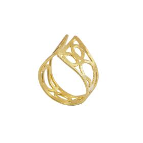 """Δακτυλίδι   """"GEOMETRIC SHAPE """"   σε ασήμι επιχρυσωμένο"""