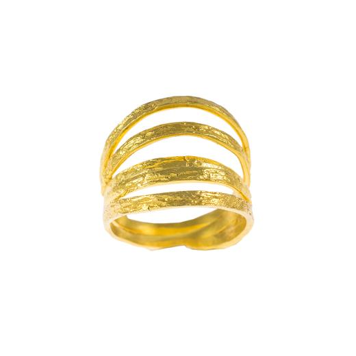 Δακτυλίδι σε κίτρινο χρυσό 14ΚΤ .