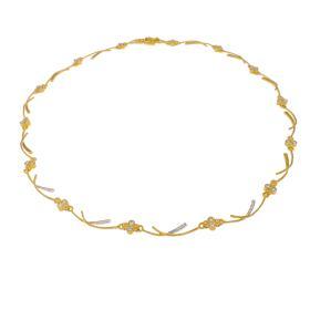 """Κολιέ """"RAYS"""" σε κίτρινο 14ΚΤ χρυσό με ζιργκόν."""