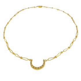 """Κολιέ """"LUCK"""" σε κίτρινο χρυσό 14ΚΤ με ζιργκόν"""