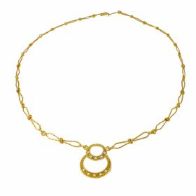 """Necklace """"LUCKY"""" 14kt gold with zirgon."""