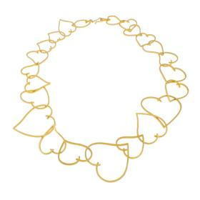 """Κολιέ """"HEARTS""""   σε  κίτρινο χρυσό 14κ"""