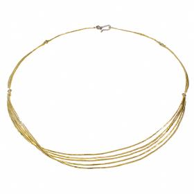 "Necklace  ""LINES"" gold 14 kt  with zirgon"