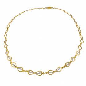 """Κολιέ """"INFINITY"""" σε κίτρινο 14 ΚΤ χρυσό με ζιργκόν"""
