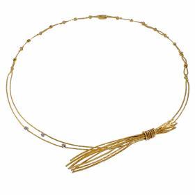 """Κολιέ 'ZEA""""  σε κίτρινο 14 ΚΤ χρυσό με ζιργκόν"""