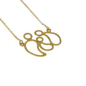 """Κολιέ με αλυσίδα, """"FAMILY"""" σε κίτρινο χρυσό 14 ΚΤ με ένα παιδάκι ."""