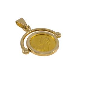 Φυλαχτό Παναγία σε χρυσό 14ΚΤ