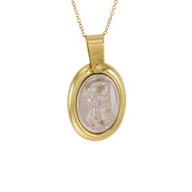 Talisman Virgin Mary gold and white gold 14kt