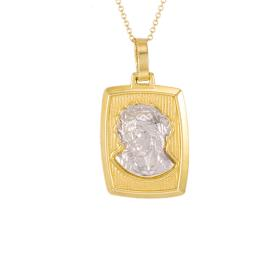Talisman Virgin Mary gold and white gold 14kt.