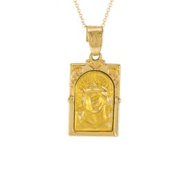 Φυλαχτό Χριστός σε κίτρινο χρυσό 14ΚΤ.