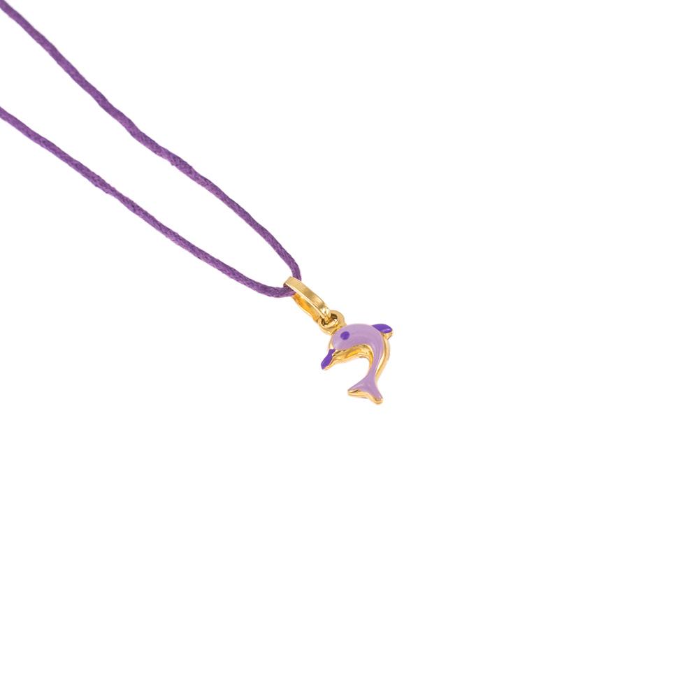 Μενταγιόν δελφίνι  σε κίτρινο 14ΚΤ χρυσό.