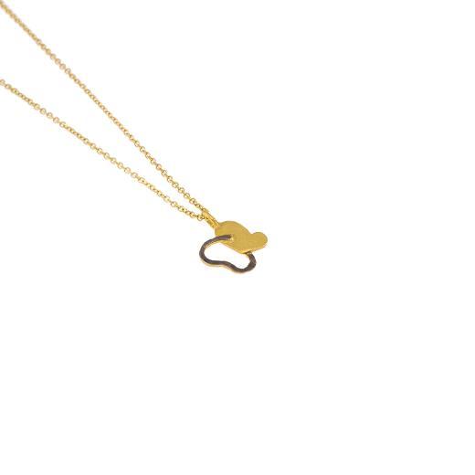 Μενταγιόν  πεταλούδα σε κίτρινο 14ΚΤ χρυσό.