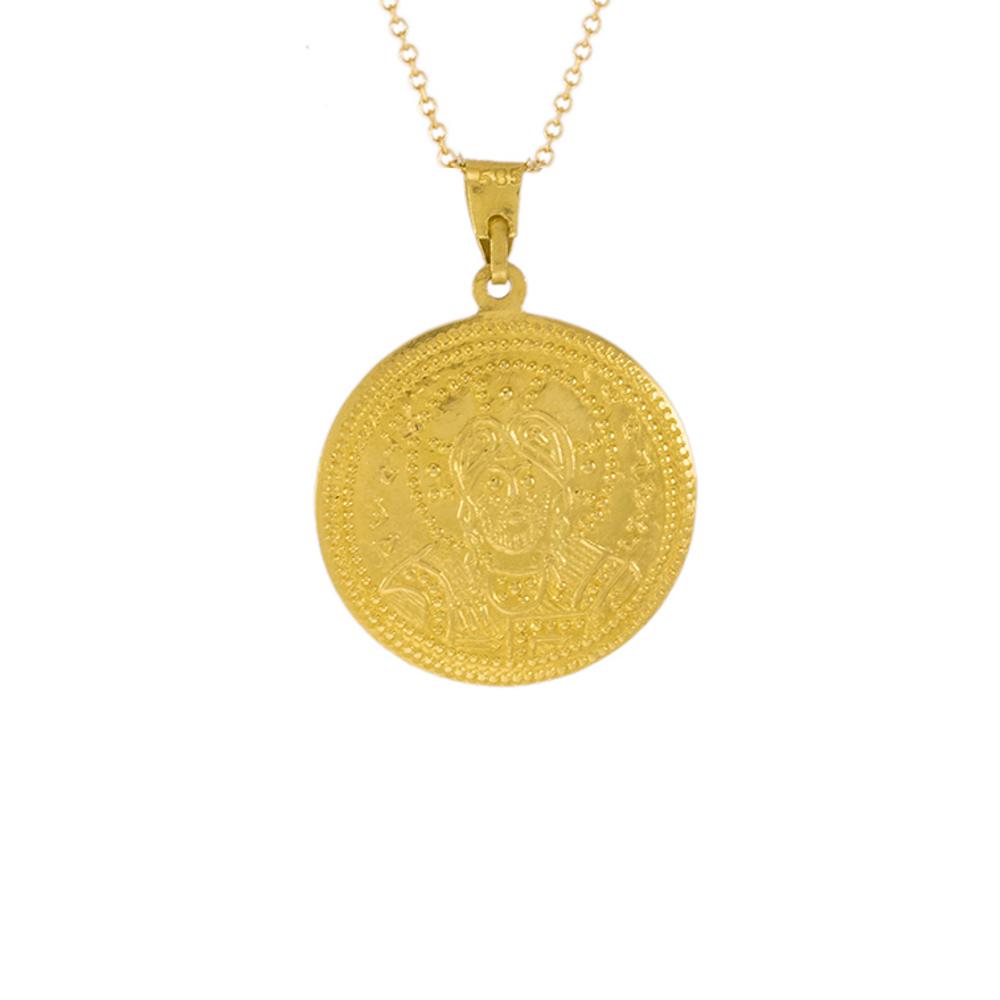 Φυλαχτό Αγιοκωνσταντινάτο σε κίτρινο χρυσό 14ΚΤ.