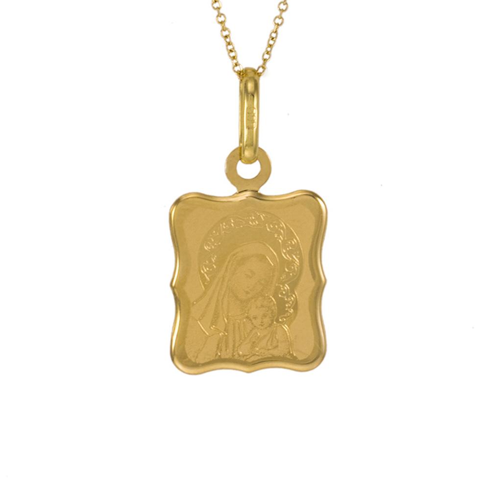 Φυλαχτό Παναγία σε χρυσο 14ΚΤ